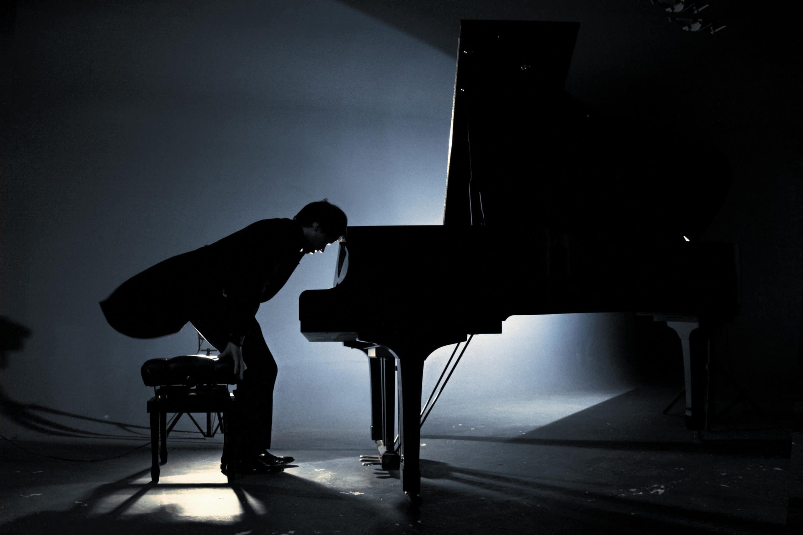 Avec le pianiste Pierre-Yves Plat - © Photo Guillaume Garcia