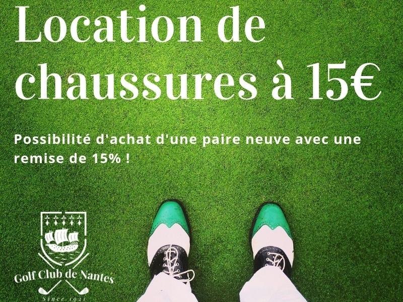 Location de chaussures de golf