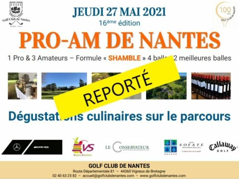 16ème Pro-Am de Nantes : REPORTÉ